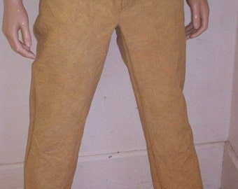 Hermans Eco US Grown  Organic Cotton hand dyed Pants Jeans 37 X 35  Tan