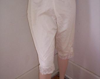 Bloomers Steampunk  capris  woven US grown Organic cotton  Pants S Anna Herman
