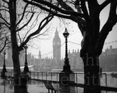 London Rain Fine Art Print
