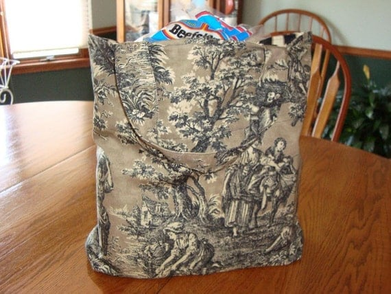 GO GREEN - reusable grocery or market bag, large size