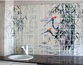 Cranes in Bamboo,  8ft x 4ft  Art Tile Mural