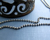 antiqued sterling silver 2mm bead ball chain - personalized interchangeable and collectible charm necklaces