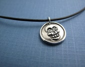 1.5mm black leather cord with sterling silver clasp - personalized charm necklaces