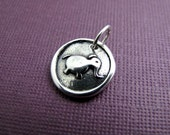 thunder mind elephant sterling silver charm