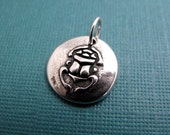 new day egyptian scarab sterling silver charm