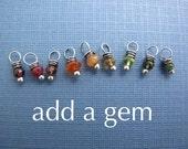 personalized birthstone charm necklaces - add a gem