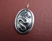 year of the dragon sterling silver charm