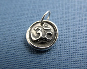 om sterling silver charm