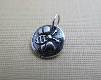 bee beso sterling silver charm