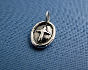 valiant milagro cross sterling silver charm