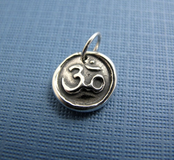 REDUCED PRICE om sterling silver charm