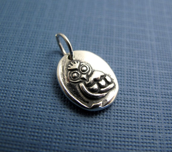saskia owl sterling silver charm