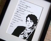 Mr Darcy's Proposal Giclee Print - Original Art Print - 8x10