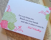 Little Birds Note Cards Set With Inspirational Quotes