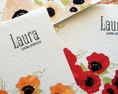 Poppy Personalized Note Cards - Red Poppies, Orange Poppies, Pink Poppies