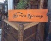 Harvest Blessing Wood Sign