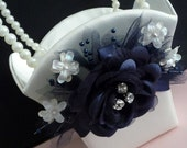 Midnight Blue Flower Girl Basket