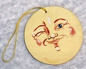 Moon Mama's Handpainted Winking Man in the Moon Ornaments