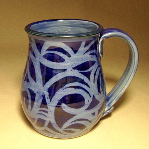 18oz. Blue Abstract Celtic Mug