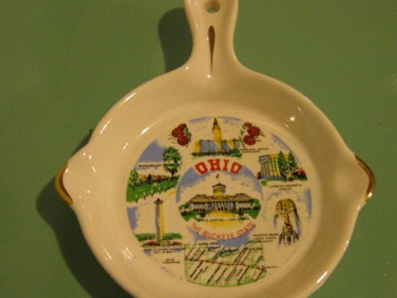 Fun Souvenir Ashtray\/Wall Hanging From Ohio