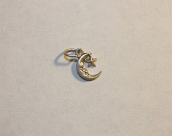 Sterling Silver Moon and Star Mini Charm