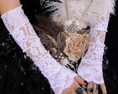 Armwarmers, White Lace Combo, Dark Fusion Boutique, LucretiaRenee, Bridal, Wedding, Dance