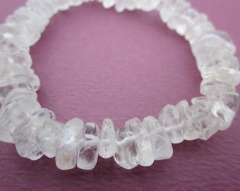 smooth rock crystal ice chips bracelet