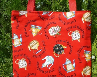 Mary Engelbreit tote bag Teapot Tea Pot Cup of Kindness Limited