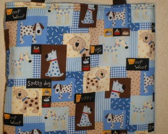 Dog Dogs Tote Bag Patchwork Spotty Dog Puppy Bones Woof Handmade Purse LIMITED