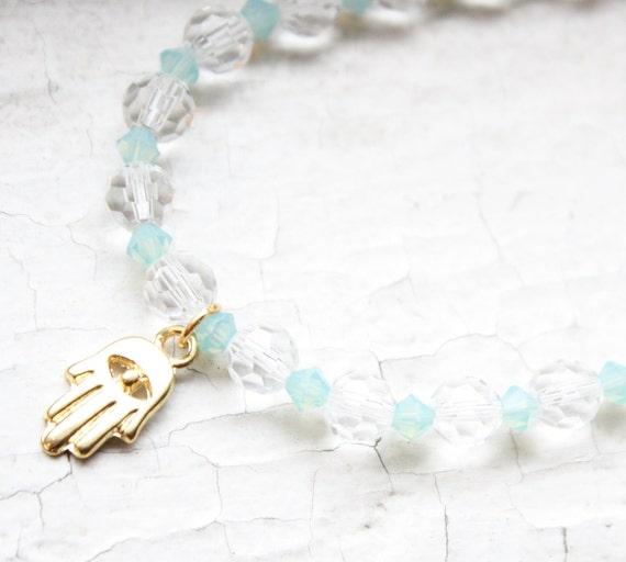 Kabbalah Evil Eye Hamsa Swarovski Crystal Bracelet