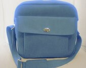 Vintage Carry On Bag - Beautiful Blue