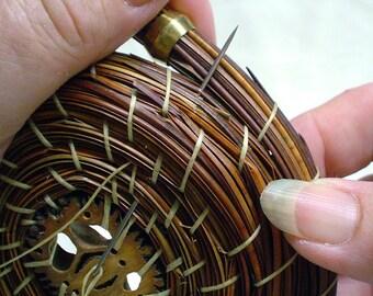 Walnut Rice Bowl Pine Needle Basket Kit