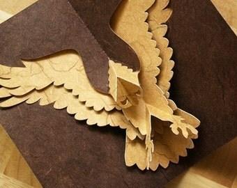 Kirigami Eagle Pop-up Card, Make Yourself