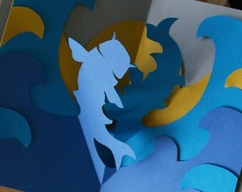 Kirigami Pisces (Two Fish) Pop-up Card, Make Yourself