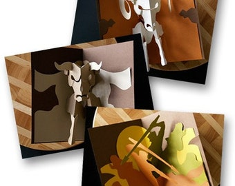 Kirigami Zodiac Series Pop-up Card, Make Yourself