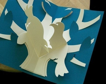 Kirigami Turtle Doves Pop-up Card, Make Yourself