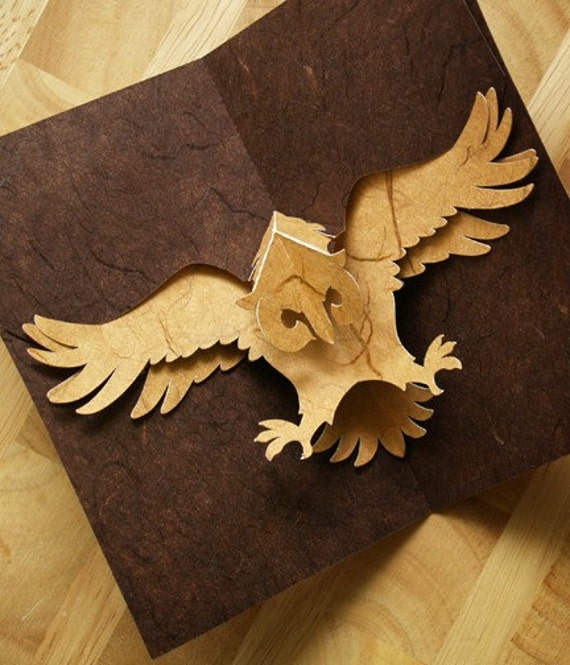 Kirigami owl pop up card make yourself by popupcardmaking for Kirigami paper art
