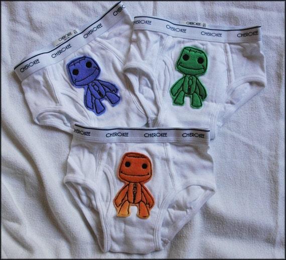 Catchick6 Creations presents 3 pairs of Little Big Planet Sack Boy Underwear