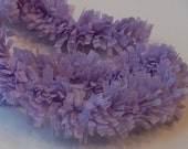 Handmade Crepe Fringe - Lilac Purple