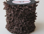 Handmade Crepe Chocolate Brown Fringe