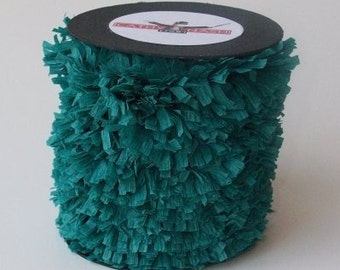 Handmade Crepe Fringe - Teal Green