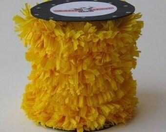Handmade Crepe Big Bird Yellow Fringe Festoon