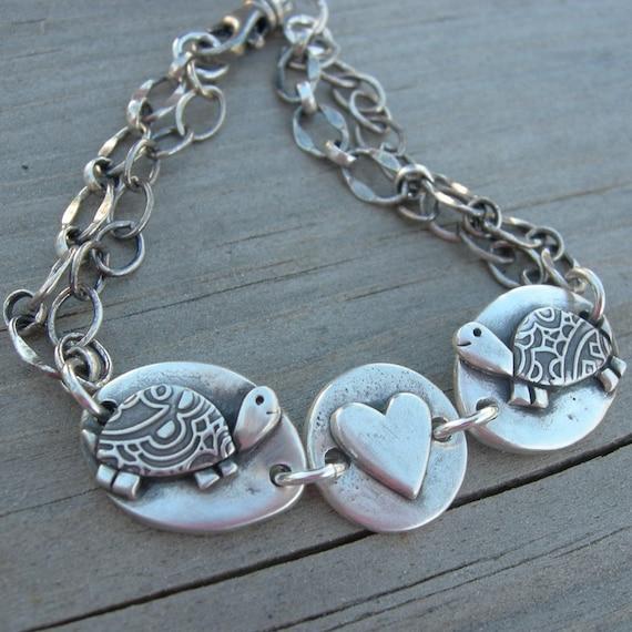 Heart Jewelry Turtle Love Bracelet Valentine