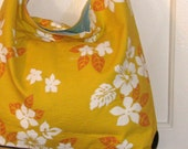 SALE brighten your day upcycled tremundo slouch bag