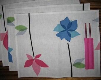 Place Mat with Chopsticks-8 sets