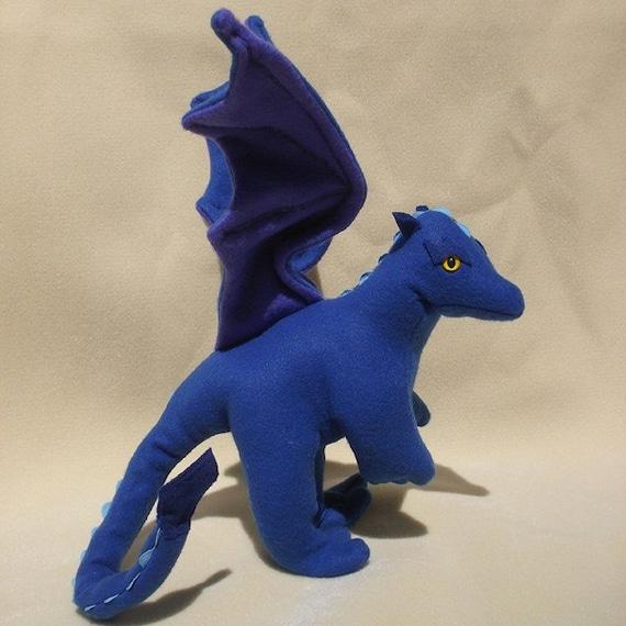 Marine the Blue Stuffed Dragon