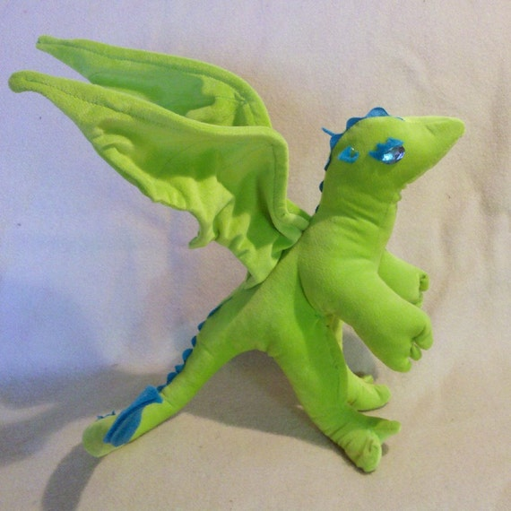 Tink the Green Stuffed Dragon
