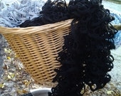 Curly Black Fashion Scarf