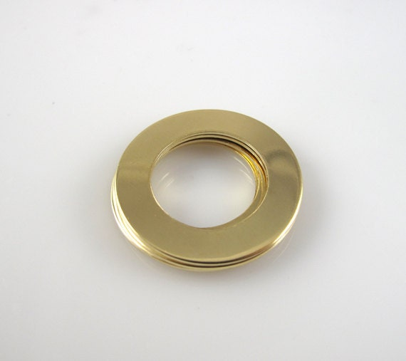 """Brass WASHERS 1""""  Round 25mm 22 Gauge Hand Stamping Supplies Blank Finished  Engraving Circle  Jewelry Making QTY 5"""