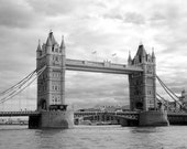 Tower Bridge in London England - 8x12 Fine Art Infrared Photograph